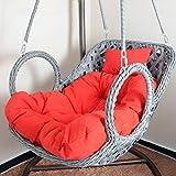 DULPLAY Hängesessel Swing,Für Indoor Outdoor Home Terrasse Deck Garten, Lesen Freizeit Anti-rutsch Seat Dämpfung-D 100x85cm(39x33inch)