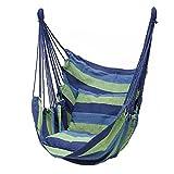 JTYX Hängemattenstuhl Großer Hängemattenstuhl Entspannen Sie Sich Hängesessel Baumwollgewebe Komfort & Haltbarkeit Perfekt für Innen- / Außenbereich Schlafzimmer Patio Deck Yard Garden