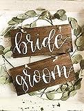 CELYCASY Sweetheart Tischschilder für Stühle, rustikales Holz, Hochzeitsschilder, Brautpaar und Stuhlschilder, Holzstuhlschilder, Hängesessel, Schilder
