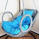 DULPLAY Hängesessel Swing,Für Indoor Outdoor Home Terrasse Deck Garten, Lesen Freizeit Anti-rutsch Seat Dämpfung-A 100x85cm(39x33inch)