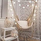 JTYX Hängemattenstuhl Large Relax Cotton Weave Quasten Kreativer Hängesessel Outdoor Indoor Schaukelsitz Gartenhaus für Erwachsene