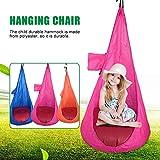 Hängesessel für Kinder, Schaukelstuhl, Nook-Zelt, für drinnen und draußen, Hängematte, Blau/Orange/Pink Stühle für Schlafzimmer 30 * 15 * 15 blau