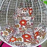 HYRGLIZI Hängesessel Kissen Stuhlpolster, Großes Sitzkissen Schaukelstuhl Pad Wiegenstuhl Pad Baumwollleinenstoff Abnehmbares, mit Baumwolle gefülltes Liner-T-Tuch + Liner + Füllstoff