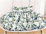 Möbel Sitzkissen Gartenterrasse, Doppelkorb Rattan Kissen, Hängematte Schaukel Hängesessel, Eierstuhlkissen,Orchid