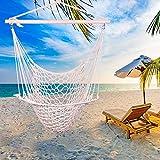 KeluckQ Hängesessel mit Seil zum Aufhängen mit Baumwollgewebe für höchsten Komfort, Haltbarkeit, Teenager, drinnen und draußen, Garten, Terrasse, Veranda, Hof, Schlafzimmer