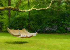 ein-Holz-Haengesessel