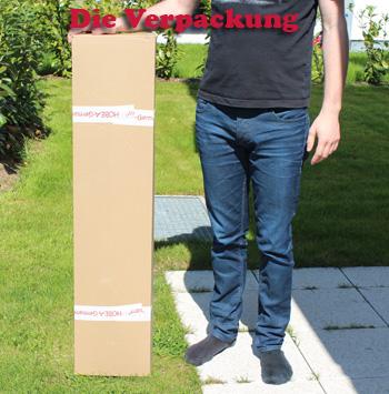 Die Verpackung des Hobea XXL-Hängesessels