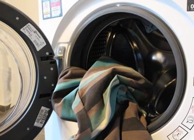 Hängesessel in der Waschmaschine reinigen