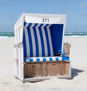 Ein Strandkorb